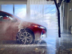 Touchless Car Wash with Prius Prime